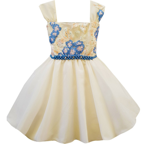 Vestido Infantil Princesa Festa Dama Casamento Aniversário Formatura Envio Imediato