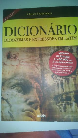 Livro Dicionário De Máximas E Expressões Em Latim