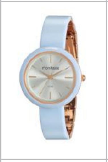 Relógio Mondaine Com Caixa E Pulseira Metálica