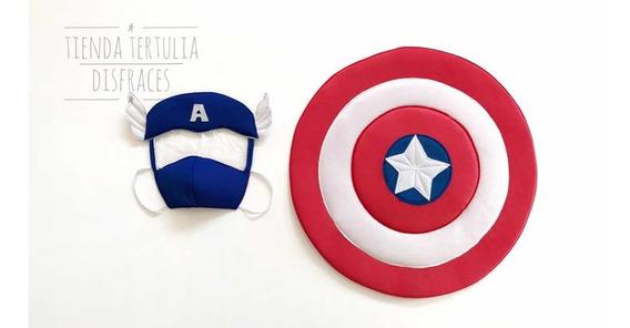 Kit/disfraz Mascara Protectora + Escudo Capitan America