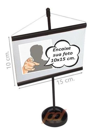 Mini Banner 10x15cm. Para Personalizar Preto - 50 Unidades