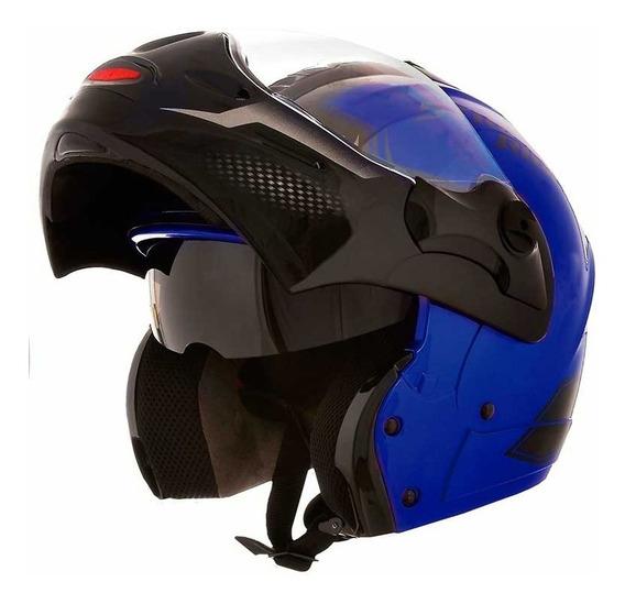 Capacete Moto Mixs Articulado Captiva Street Rider Azul