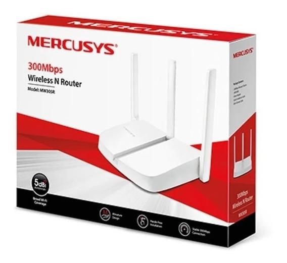 Router Inalambrico Wifi Mercusys Mw305r 300mbps 3 Antenas