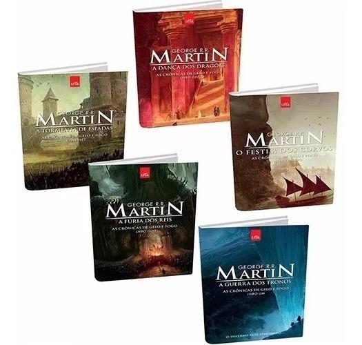 Coleção As Crônicas De Gelo E Fogo - Capa Nova (5 Livros) *