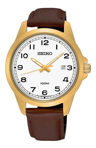 Relógio Seiko - Marrom/ Dourado - Masculino 54192