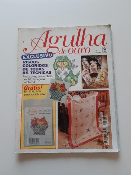 Revista Agulha De Ouro Ponto Cruz Riscos Coloridos F45