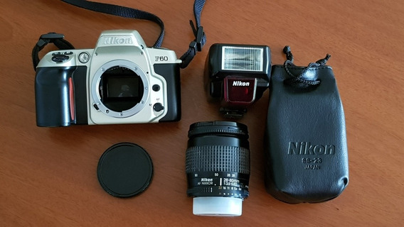 Câmera Nikon F60 + Objetiva (lente) 28-80mm F3.5-5.6d