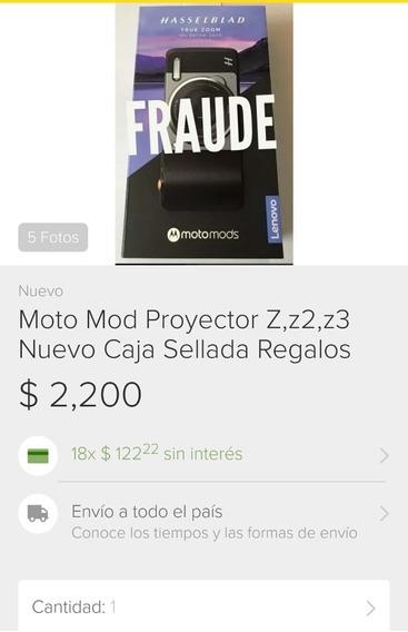 Moto Mods Zr3, Z2. Proyector Cámara Motorola
