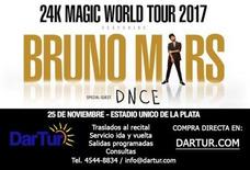 Traslados Al Recital Bruno Mars En Estadio Unico La Plata
