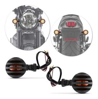 Kit 4 Pisca Bullet Metal Moto Cafe Racer Custom Frete Grátis