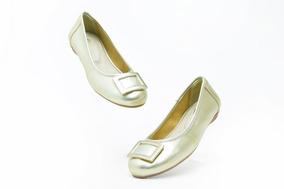 Zapatos Casuales Juvenil Flexi 32509 Oro 100% Originales