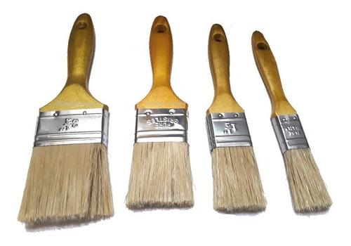 Brochas Pintura Set 4 Unidades - 1  - 1 1/2  -  2  -  2 1/2
