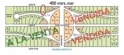 Lote 10 Quinta 14 San Clemente Del Tuyu A 400mts De Mar