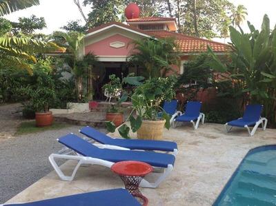 Villa De 4 Habitaciones, Piscina, En Playa Popy Las Terrenas