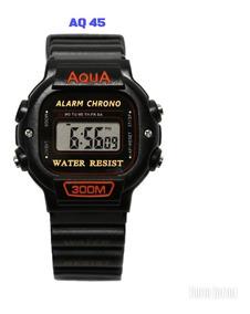 10 Relógios Masculinos Novo Aqua Aq 45 Prova D