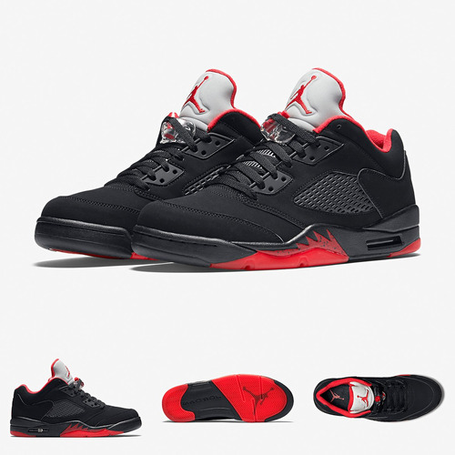 sports shoes 9a930 bfc76 Zapatillas Nike Air Jordan 5 Low | Black Red