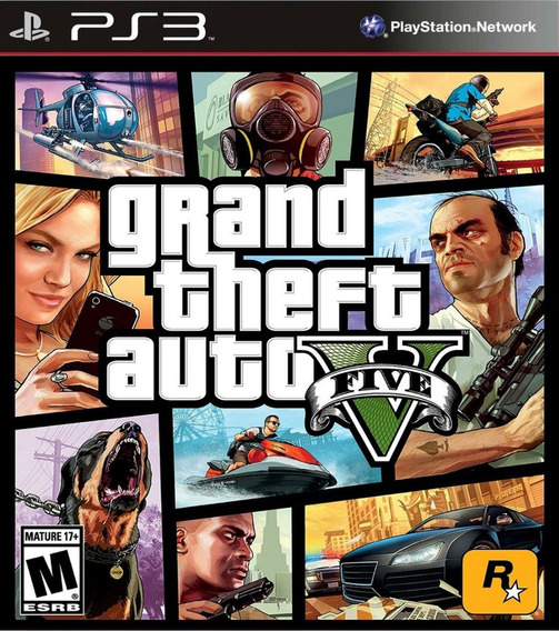 Jogo Ps3 Grand Theft Auto 5 Gta V Psn Game Gta 5 Play 3 Ptbr