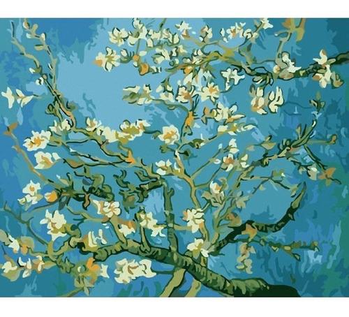Pintura Numerada Amendoeiras_almond Blossons_van Gogh_p2