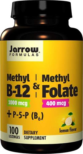 Methyl B12 (metilcobalamina) + Metilfolato Jarrow 100 Cáps