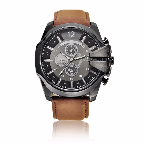 Relógio V6 Esportivo Masculino Pulseira Marrom Promoção!!!