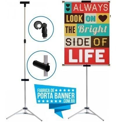Porta Banner De Alumínio Com Garras De 1,80 + Bolsa