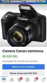 Canon Semi Profissional Seminova Garantia Estendida Grátis