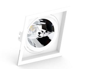 Pacote 10 Peças Embutido Ar111 Quadrado Recuado Branco/preto