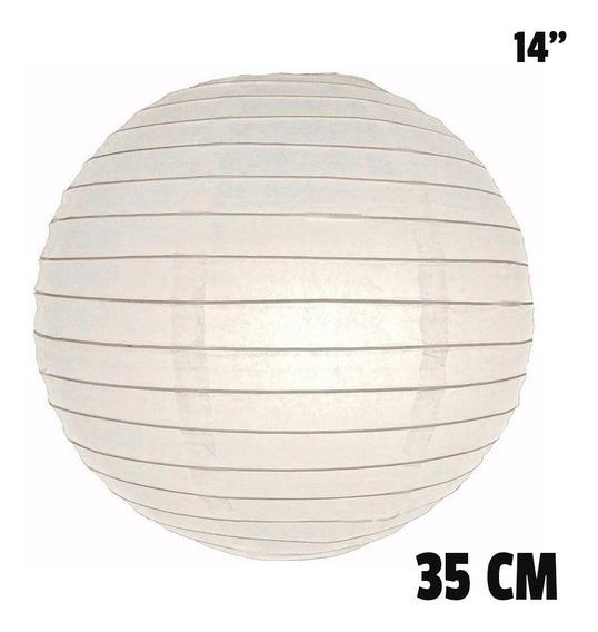 10 Pantallas Chinas 35cm 14´´ Blancas Linterna Lámpara Papel