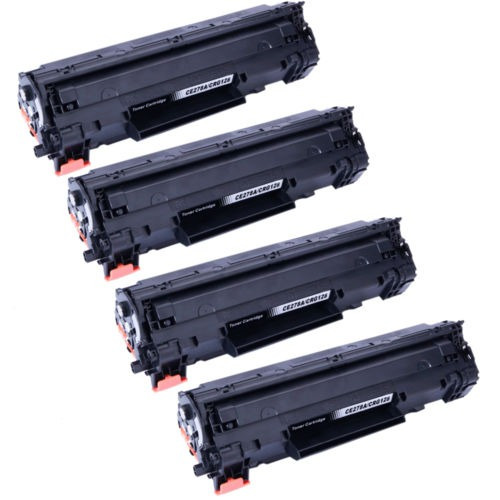 Lot4 Ce278a Crg128 Cartucho De Toner Para Canon H-p Laser Je