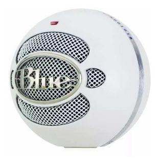 Micrófono Blue Snowball Texture White Condenser Omnidireccio