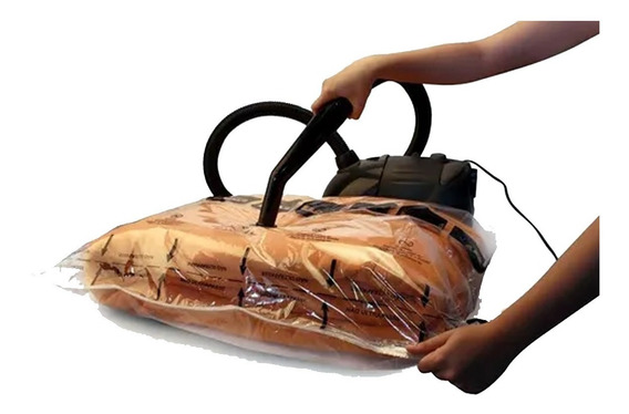 Kit 5 Sacos Para Embalagem A Vácuo Com Cabide 150x70 Cm