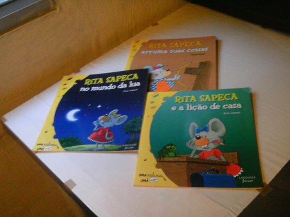 Rita Sapeca - Lote De 3 Livros Infantis