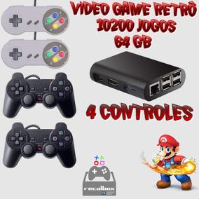 Kit Video Game Retrô 10.000 Jogos + 64gb + 4 Controles