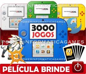 2ds + 3000 Jogos Nintendo 64gb Classe 10 + Película Brindes