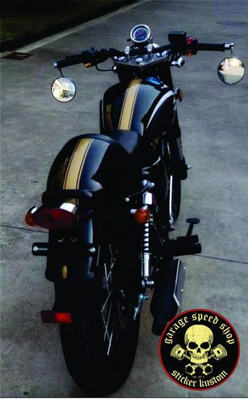 Adesivo Faixa Tanque Café Racer Chopper Bobber Honda Suzuki