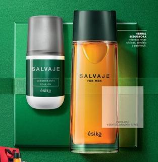Perfume Salvaje +desodorante-esika-lima