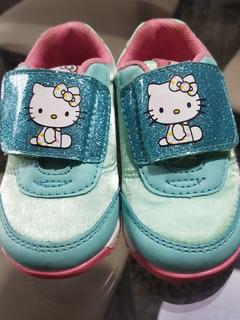 Zapatilla Topper Beba Kitty Con Velcro Talle 21, Nuevas!