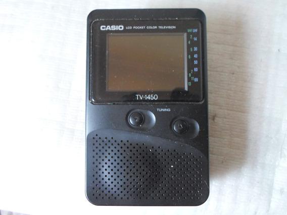 Tv Portátil Cassio Modelo 1450 Com Defeito ( Não Liga )