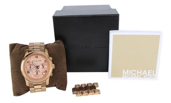 Relógio Michael Kors Rosê Mk5128 Original E Completo Lindo!!