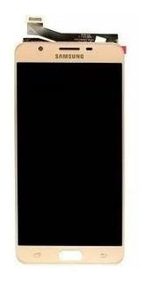Display Tela Touch Lcd Samsung J7 Prime G610 Dourado