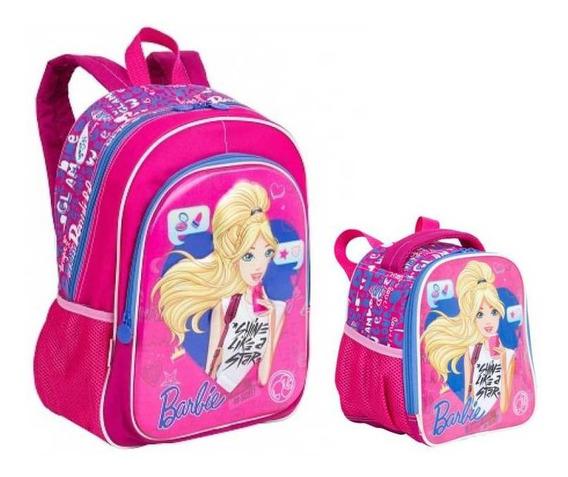 Kit Mochila E Lancheira Barbie 17x - Sestini 64750