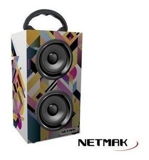 Parlante Netmak Zuka Bluetooth 10w Usb/sd Fm Recargable