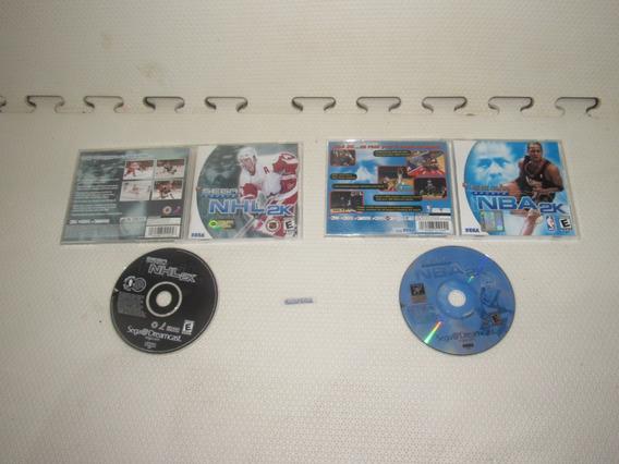 Nba + Nhl 2k Originais Para Sega Dreamcast Completos
