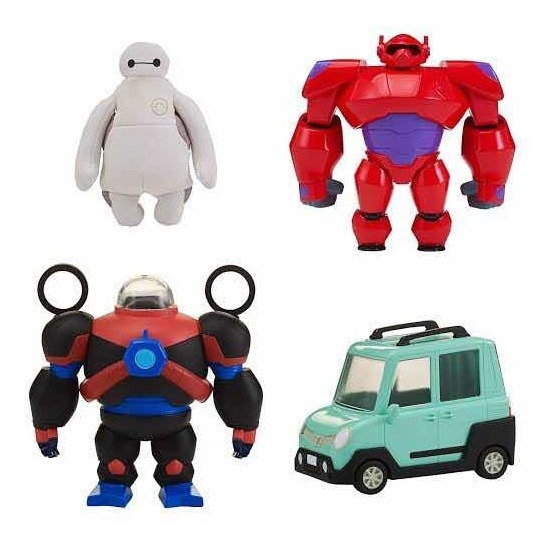 Baymax Set Big Hero 6 Squish To Fit 4 Piezas Squeezee