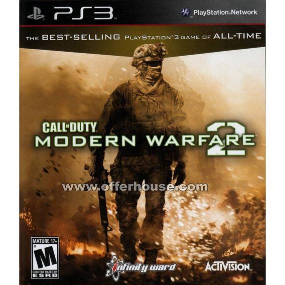 Call Of Duty Modern Warfare 2 - Ps3 Jogo Blu-ray Estado Novo