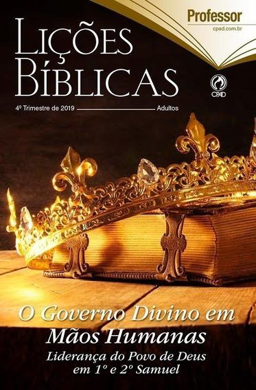 Revista Lições Bíblicas Adulto Professor 4° Trimestre 20