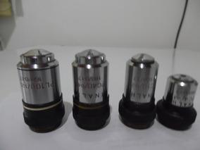Objetivas Para Microscópios Marca Inalh, Acromáti, Seminovas