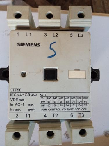 Contator Siemens 3tf50 160a 220
