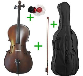 Violoncello Stradella Mc601244 4/4 + Arco + Funda + Resina