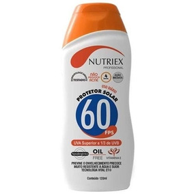 Protetor Solar Fps 60 1/3 Uva 120ml Nutriex